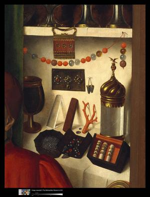 Primary view of A Goldsmith in His Shop, Possibly Saint Eligius