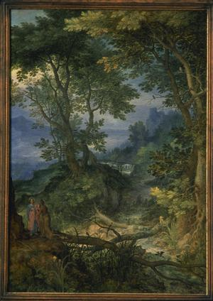 Primary view of Alpine Landscape with Temptation of Christ