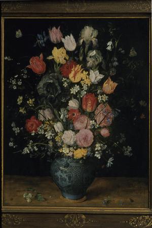 Primary view of Flower Arrangement in Blue Vase