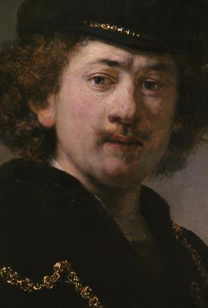 Primary view of Self Portrait with Gold Chain and Hat