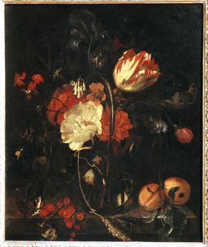 Primary view of object titled 'Vase with Flowers'.