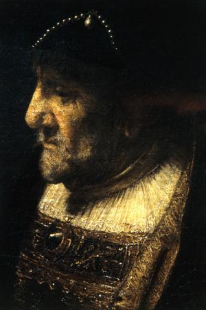 Primary view of A Man with Pearls on His Hat