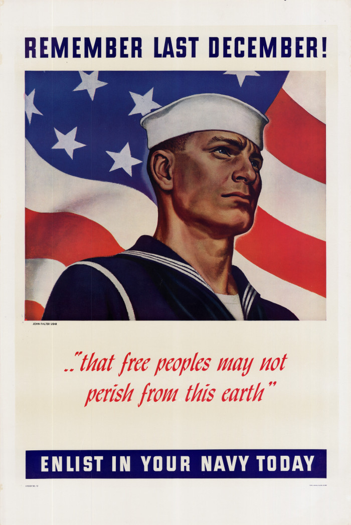 WW2 US I Would Join the Navy Poster Print