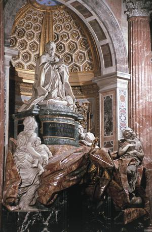 Primary view of Tomb of Pope Alexander VII Chigi (r.1655-67)