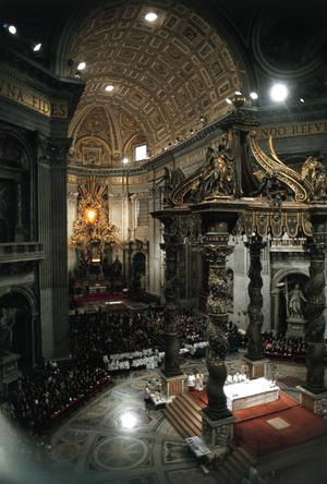 Primary view of The Baldacchino. Rome, St. Peter's