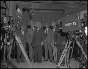 Primary view of object titled '[Men at WBAP-TV Station]'.