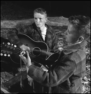 Primary view of object titled '[Young men playing guitar(2)]'.