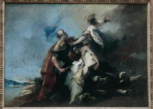 Primary view of object titled 'Abraham Sacrificing Isaac'.