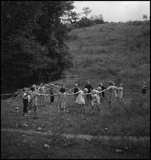 "Primary view of object titled '[Children playing ""drop the handkerchief""(3)]'."