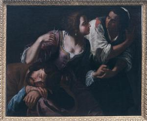 Primary view of object titled 'Delilah Cutting Samson's Hair'.