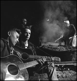 Primary view of object titled '[Young men playing guitar]'.