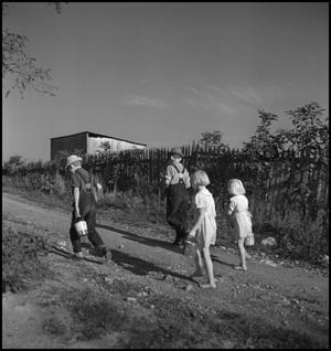 Primary view of object titled '[Boys and girls walking along a country road(3)]'.