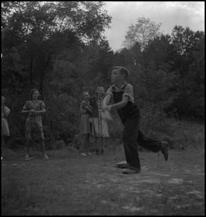 Primary view of object titled '[Students playing baseball(1)]'.