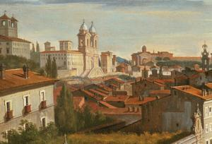 Primary view of object titled 'View of the Piazza del Popolo, Rome'.