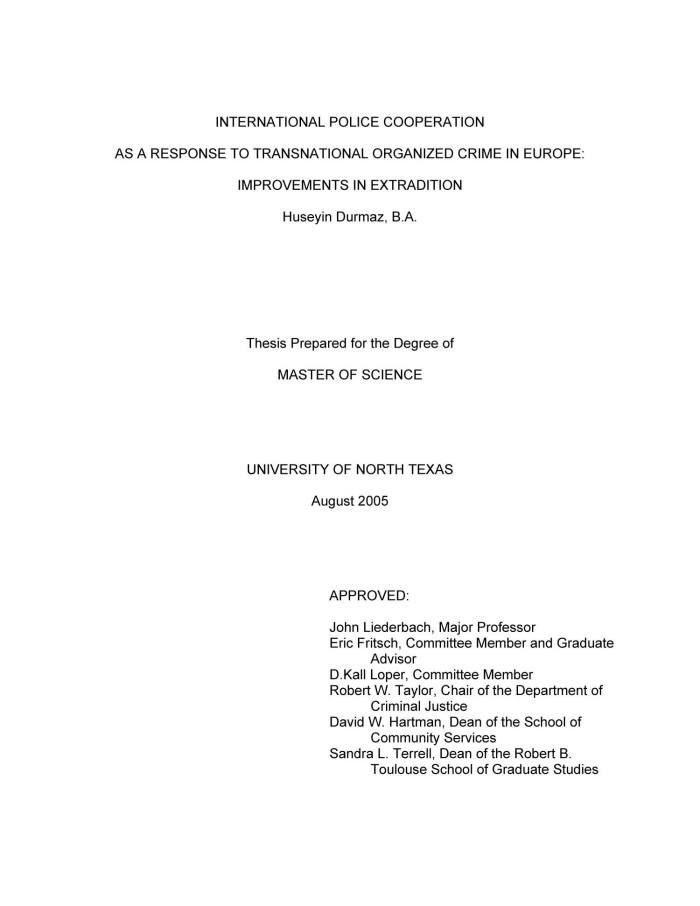 Phd thesis organized crime