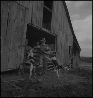 Primary view of object titled '[Wade Clark and his hounds]'.