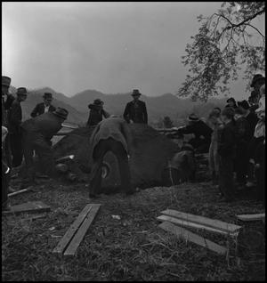 Primary view of object titled '[Mountain Funeral: Filling the Whole]'.