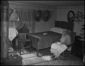 Primary view of object titled '[Woman in bedroom]'.