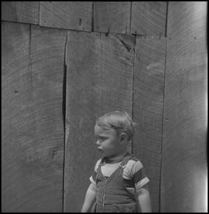 Primary view of object titled '[Little boy in overalls]'.