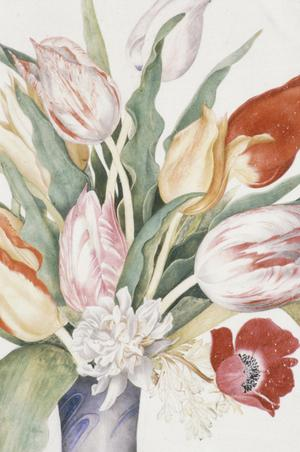 Primary view of Porcelain Vase with Tulips (restored in 1964)