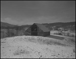 Primary view of object titled '[Barn in the snow]'.