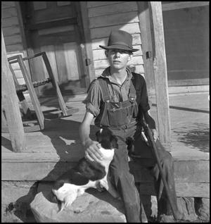 Primary view of object titled '[Otto Walker with his dog]'.