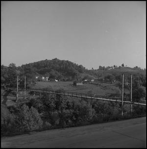 Primary view of object titled '[Swinging bridge]'.