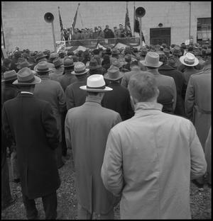 Primary view of object titled '[UAW labor union rally]'.