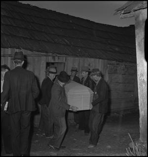 Primary view of object titled '[Mountain Funeral: Pallbearers]'.