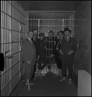 Primary view of object titled '[Joe Clark in Tazewell County Jail]'.