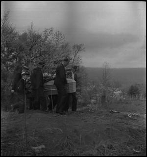 Primary view of object titled '[Mountain Funeral: Carrying the Casket]'.