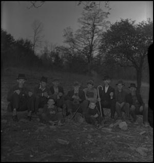 Primary view of object titled '[Mountain Funeral: Group of Men]'.