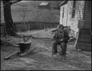 Primary view of object titled '[Stirring apple butter]'.