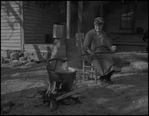 Primary view of object titled '[Cooking apple butter]'.