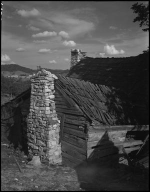 Primary view of object titled '[Stone chimney]'.