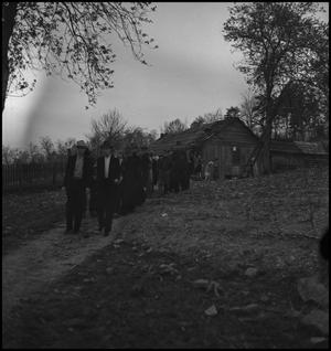 Primary view of object titled '[Mountain Funeral: leaving the Gathering]'.