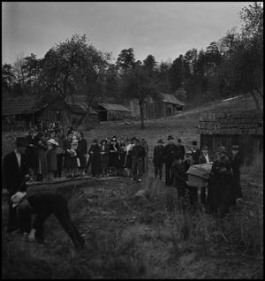 Primary view of object titled '[Mountain Funeral: Moving the Casket]'.