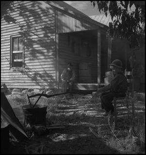 Primary view of object titled '[Stirring the apple butter]'.