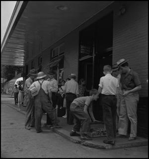 Primary view of object titled '[Segregated waiting room in Middlesboro, Kentucky]'.