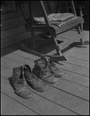 Primary view of object titled '[Uncle Wild and Aunt Nora's shoes]'.
