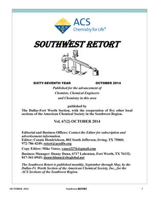 Primary view of object titled 'Southwest Retort, Volume 67, Number 2, October 2014'.