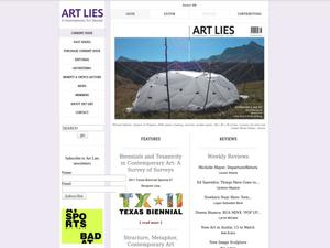 Primary view of object titled 'Art Lies: A Contemporary Art Quarterly'.