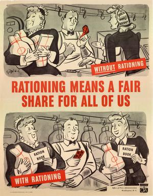 Primary view of object titled 'Rationing means a fair share for all of us.'.