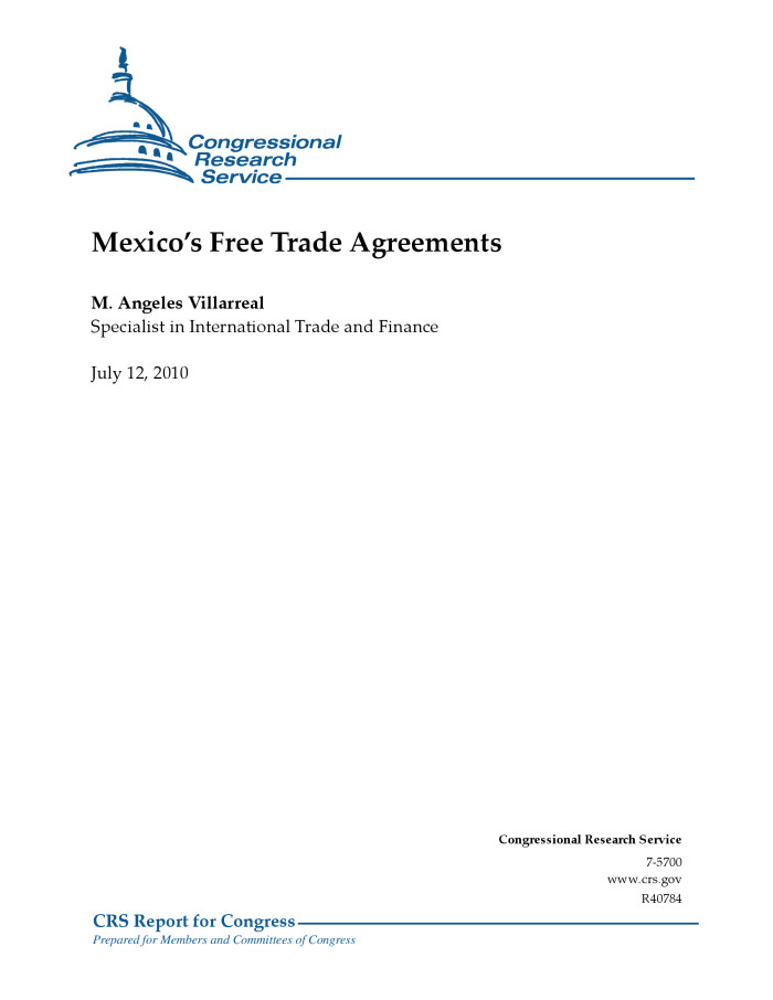 Mexicos free trade agreements digital library descriptionbookmark this section platinumwayz