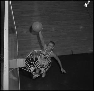 Primary view of object titled '[NTSU Basketball Player Billy Hughes]'.