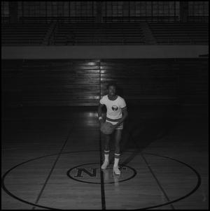 Primary view of object titled '[Basketball player from the 1972 - 1973 team, 2]'.