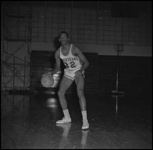 Primary view of object titled '[Matthew Huff dribbling a basketball, 2]'.