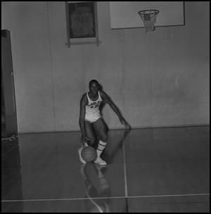 Primary view of object titled '[Dwight Lowery in mid-dribble, 3]'.