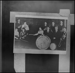 Primary view of object titled '[North Texas State Normal College band members]'.