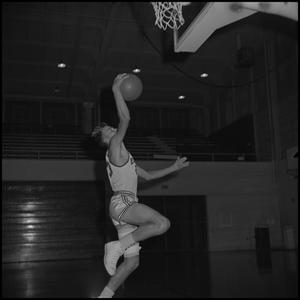 Primary view of object titled '[North Texas Eagles Basketball Player, 3]'.
